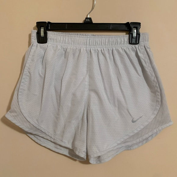 Nike light blue running shorts